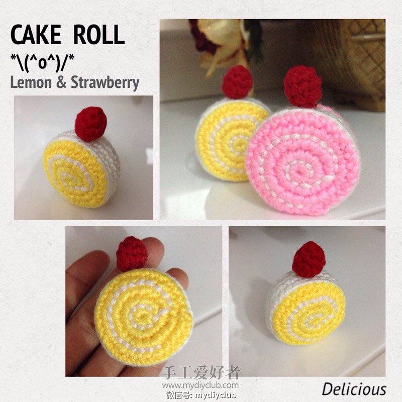 Lemon & Strawberry Roll