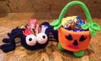 Halloween Spider Candy Dish-Pumpkin Free Pattern