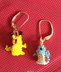 Pikachu and Squirtle Peyote Stitch