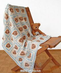 Vintage Teddy Bear Blanket