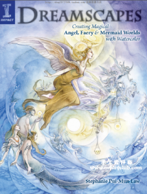 (英文)水彩魔法天使仙境和人鱼世界Dreamscapes: Creating Magical Angel Faery and Mermaid Worlds wi