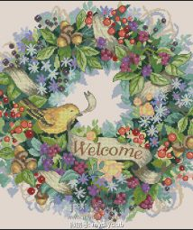 35028 - Berry Wreath Welcome(198x198)