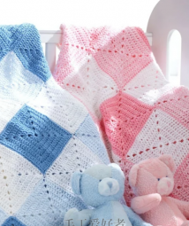 bernat-Baby Coordinates Solids -Double Diamond Blanket