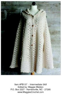 Long Hooded Crochet Cape