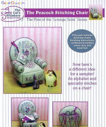 peacock stitching chair