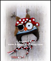 OWL PIRATE Earflap Hat