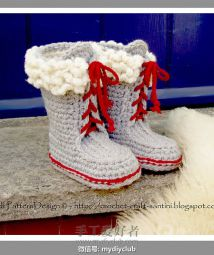 Winter Boots  with Fur and Laces