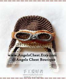 34 - Aviator Pilot Earflap Hat Size Newborn to Adult